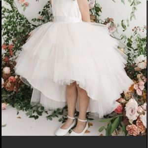 ea11fb5be7 Tip Top Tulle Satin High Low Ruffle 🌺 Girl Dress